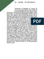 Blanchot, Maurice - La Parole Sacrée de Hölderlin (PF)