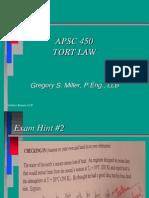 APSC 450 - Tort Law(3)