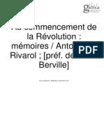 Antoine de Rivarol - Memorias Sobre La Revolución N0009912_PDF_1_-1