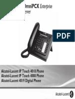 ENT PHONES IPTouch-4008-4018-4019Digital-OXEnterprise Manual 0907 En