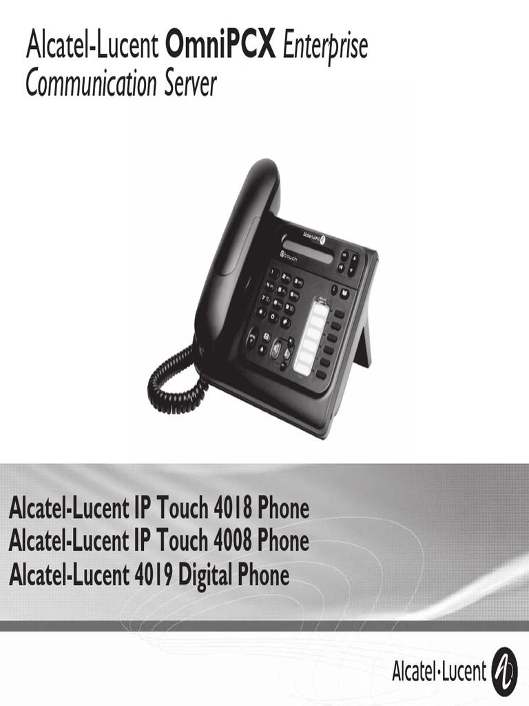 ENT PHONES IPTouch-4008-4018-4019Digital-OXEnterprise Manual 0907 En |  Voicemail | Telephone
