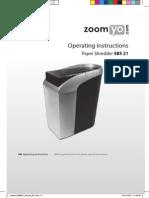 Zoomyo SBS21 Manual GB