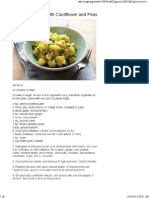 Curried Potatoes With Cauliflower and Peas