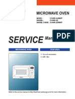 SAMSUNG  MICROWAVE OVEN C100R6