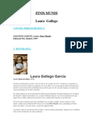 Descargar Libro Gratis Pdf Finis Mundi Laura Gallego Finis Mundi Idiomas