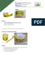Yellow Packaging & Floor Tape