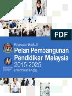 RINGKASAN EKSEKUTIF PELAN PEMBANGGUNAN PENDIDIKAN MALAYSIA 2015-2025