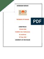 Intrenship Report of Bank of Punjab.doc