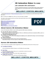 MELJUN CORTES Aurora 3D Animation Maker Manual