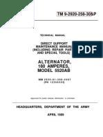 TM 9-2920-258-30&P ALTERNATOR M 109