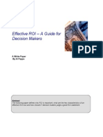 Effective ROI a Guide for Decision Making