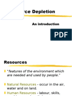 Mineral Resources and Depletion