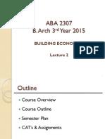 Building Economics lecture notes