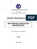 Apostila_EEL521 - Eletrotécnica Geral II - MATERIAIS E CIRCUITOS MAGNÉTICOS