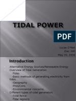 Tidal Power plants