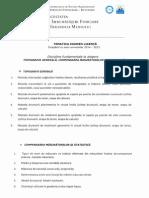 Tematica Examen Licenta - MTC-FIFIM-USAMVB