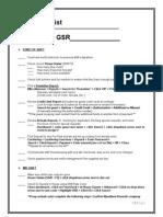 AM Checklist