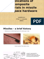 Applications of composites in missiles and space hardware.