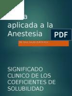 Fisica Aplicada a La Anestesiologia