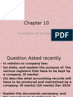 acca f4 Chapter 10 Formation of Comapny