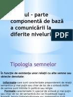 Tipologia semnelor (1)