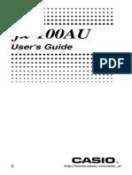Casio Fx100AU English Manual