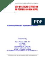 8-Geopolitics of Terai Conflict-Why