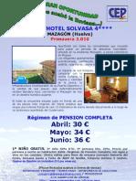 Apart Hotel SOLVASA Abril Mayo Junio Cep