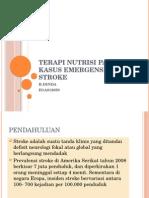 Terapi Nutrisi Pada Kasus Emergensi Stroke Ppt