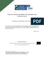 RN2009 Economic Recession and Fertility V3 April2010