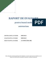 Raport de Evaluare - bun mobil