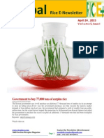 24th April,2015 Daily Global Rice E-Newsletter by Riceplus Magazine