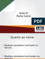 MEDIDAS CUTELARES -aula3.ppt