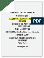 Trabajo Academico sociologia