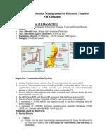 Case Studies of Disaster Management