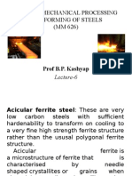 THERMO-MECHANICAL PROCESSING AND FORMING OF STEELS