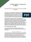 Transaction Risk Capital in Commercial Lending