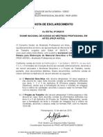 Nota de Esclarecimentoprofartes Edital 009 2015 Maria Do Carmo Divulgado No Site