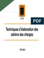 1 Techniques d'Élaboration Des Cahiers Des Chargesx