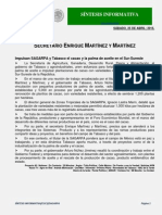 SINTESIS INFORMATIVA SAGARPA Mx