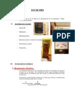 Informe 2 Circuitos Electricos I - Ley de Ohm