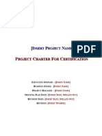 Project Charter for Certification Template
