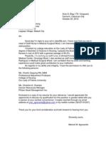 sampe nursing application letter