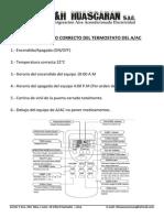 Manual de Uso Correcto Del Termostato Del Aac