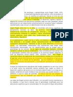La Teoría de Piaget, Vigotsky y Ausbel