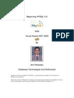 Beginning MYSQL 5 with Visual Studio NET 2005