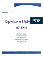 Supervision and Follow Up of Advances