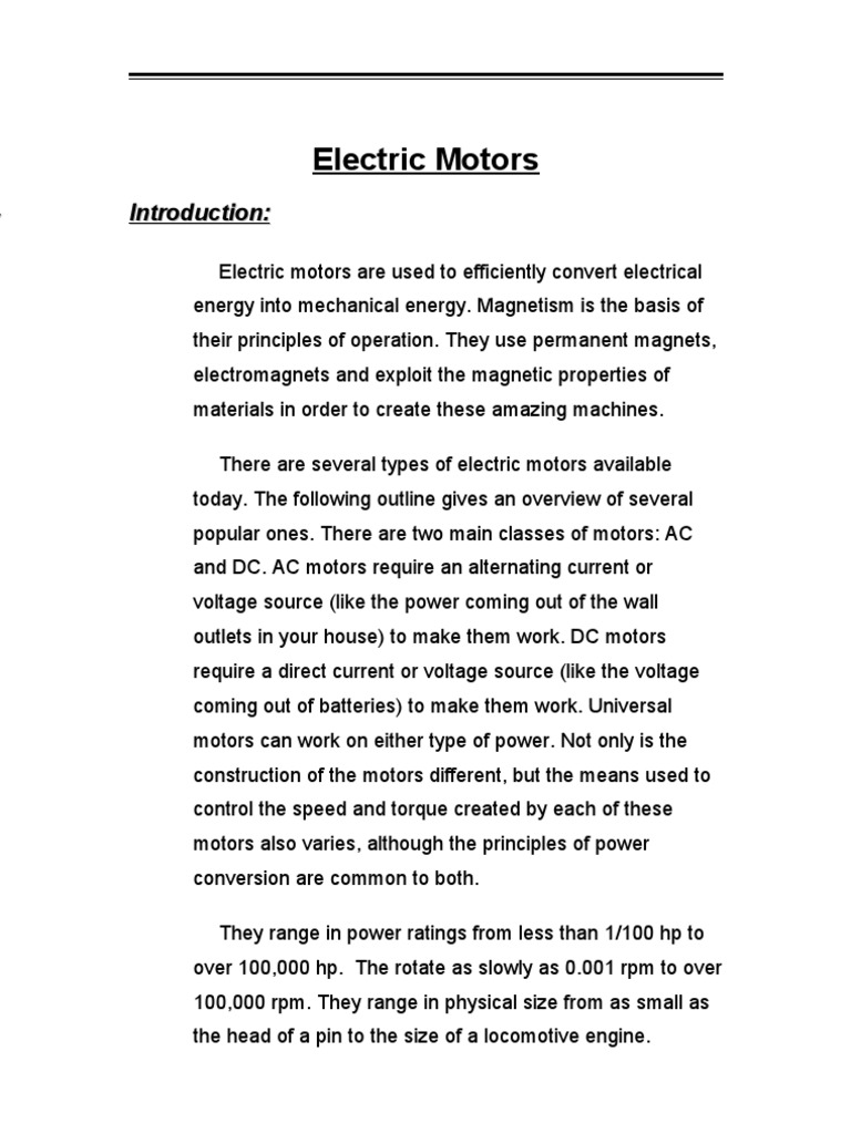 DC & AC Machines and Speed Control | Electric Motor | Power Inverter