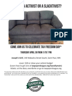 Flyer For Tax Freedom Day Event