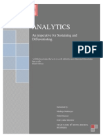 Analytics an Imperative for Sustaining and Differentiating
